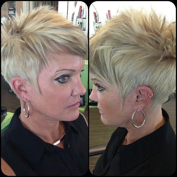 Short Spikey Hairstyles for Women Over 40 - 50
