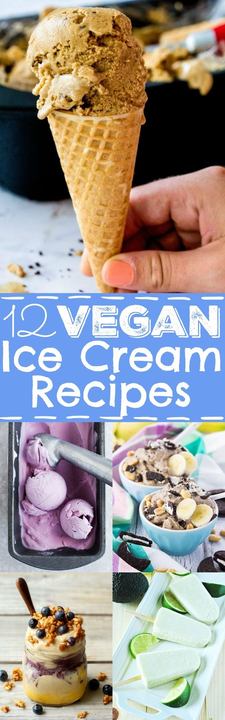 12 vegan popsicles and ice creams you really need to try this summer! They're all dairy-free, creamy, super yummy, and some are even incredibly healthy! #vegan #icecream #popsicles #dairyfree #summer #recipes #nicecream