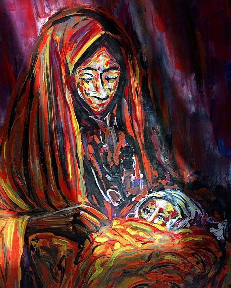 """Mother series... (detail)""   #artwork #fineart #draw #drawing #artdrawing #artofdrawing #resim #ressam #serdarabay #serdar_abay  #portrait #portraitart #portre #figure #hands #eyes #woman #mother"