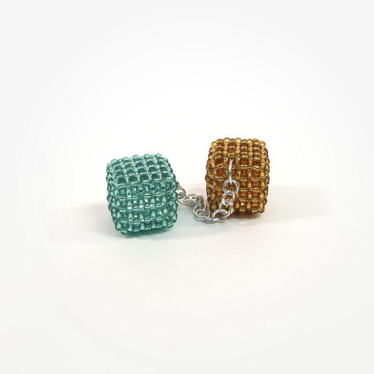 Kostki Lodu zielono -złote