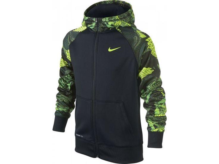 Dětská mikina Nike Kobe perf hoodie černá zelená
