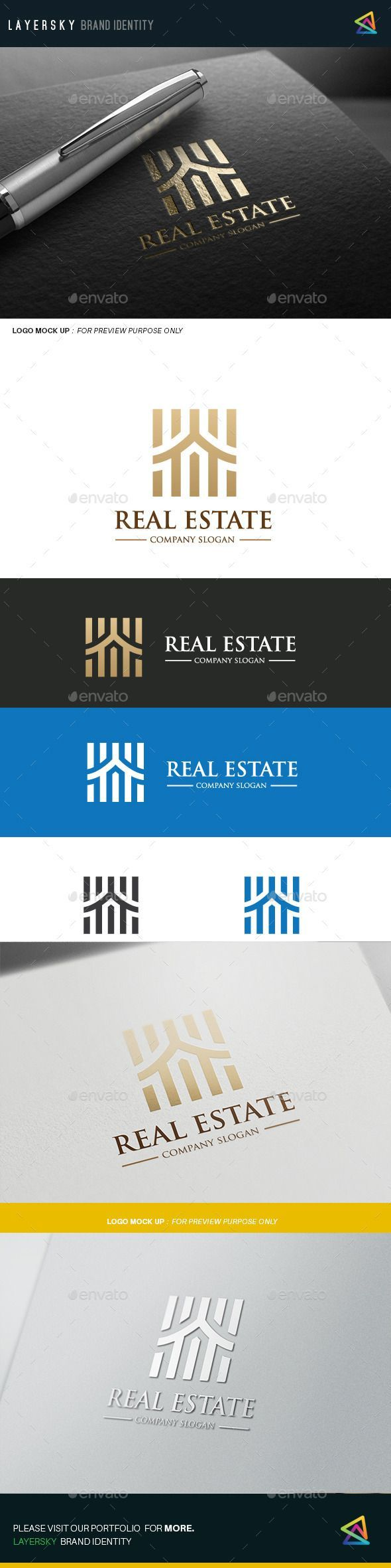 Real Estate Logo Template #design #logotype Download: http://graphicriver.net/item/real-estate/12109693?ref=ksioks