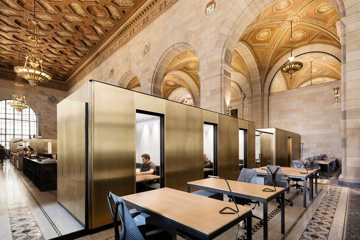 Henri Cleinge Architecte adapts former Royal Bank space on St-Jacques street in Old Montreal for Crew Offices and Café #coffeeshop