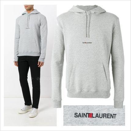 ●16-17●Saint Laurent ストリート ロゴプリントパーカーサンローラン 2017 ファッション