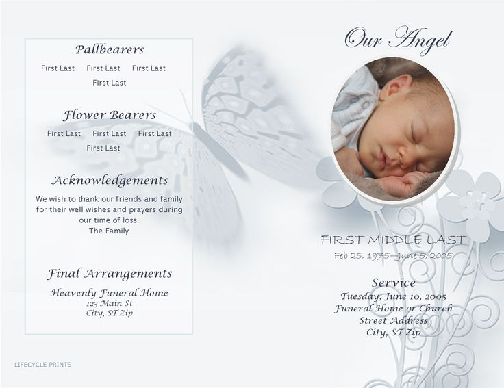 18 Best Images About Funeral Program Templates On