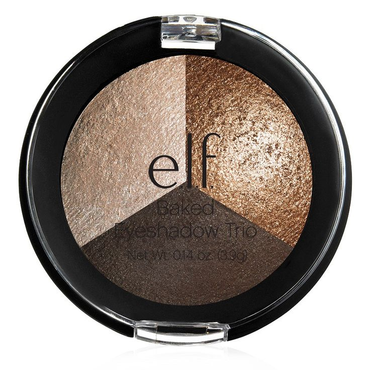 Baked Eyeshadow Trio | e.l.f. Cosmetics has good color payoff with one matte and two shimmers.  The problem is that unless you foil the shimmer eye shadows, there is some fallout.