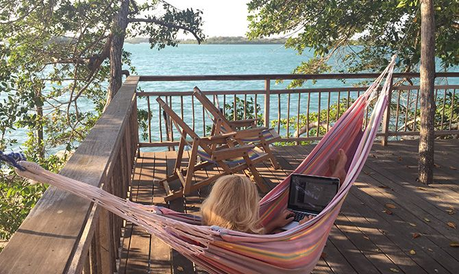 Work space at Baru island, Colombia