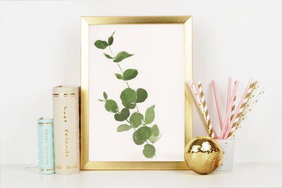 Eucalyptus Leaves greenery Original Watercolor FREE by KaylaBullen
