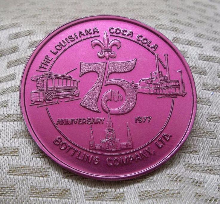 1977 The Louisiana Coca-Cola Bottling Company 75th Anniversary Purple Doubloon