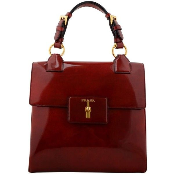 PRADA Spazzolato Fume Square Bag ($2,175) ? liked on Polyvore ...