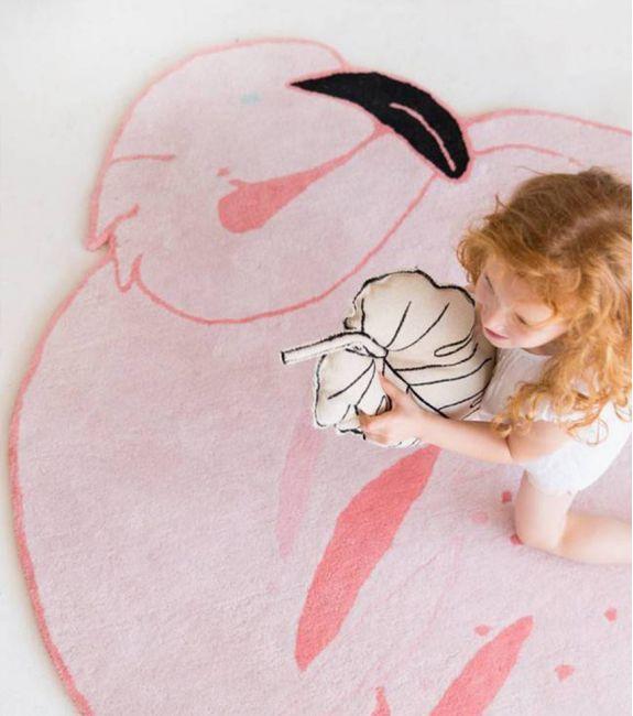 tapis flamant rose lampe lapin miffy