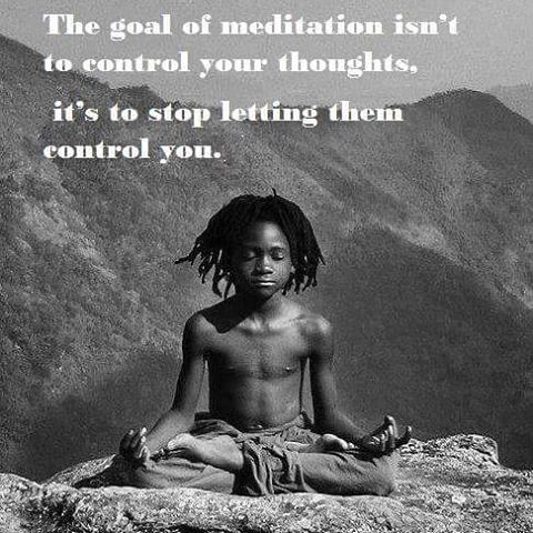 The goal of #meditation is not to #control your thoughts, it's to stop letting…