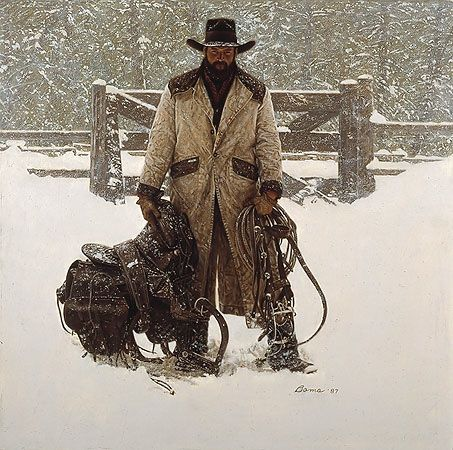This is by my all time favorite artist James Bama.  It's incredible how much his paintings look like photographs!