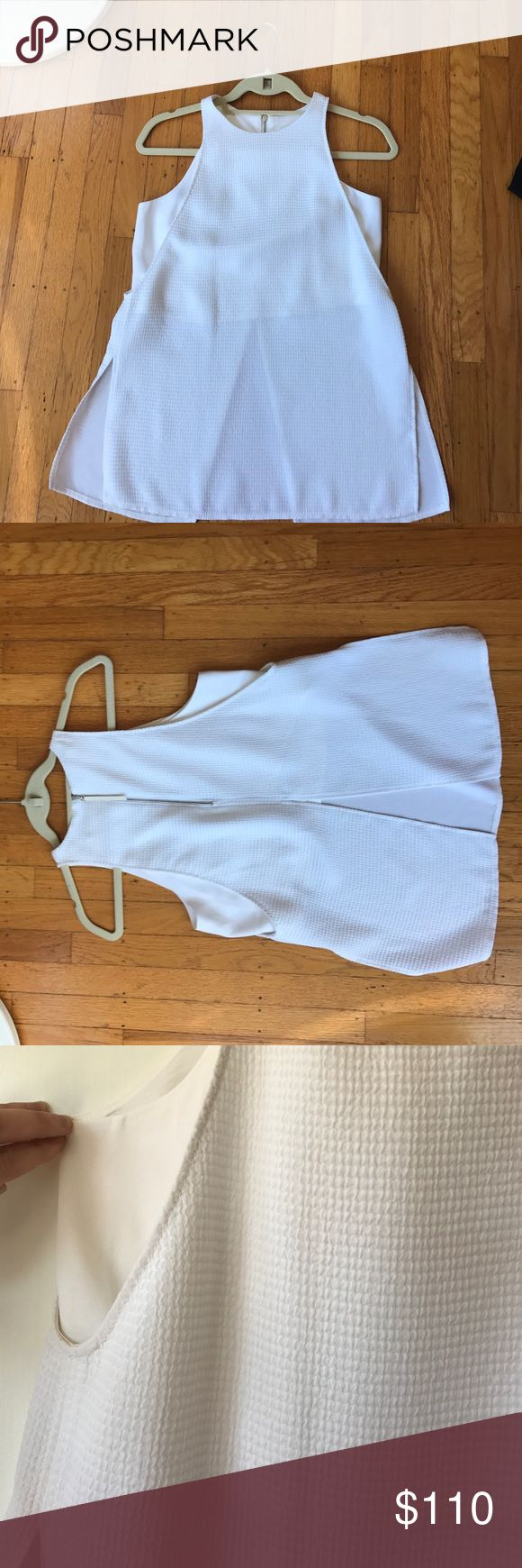 Helmat Lang blouse Super cute white sleeveless blouse. Only worn a few times. Helmut Lang Tops Blouses
