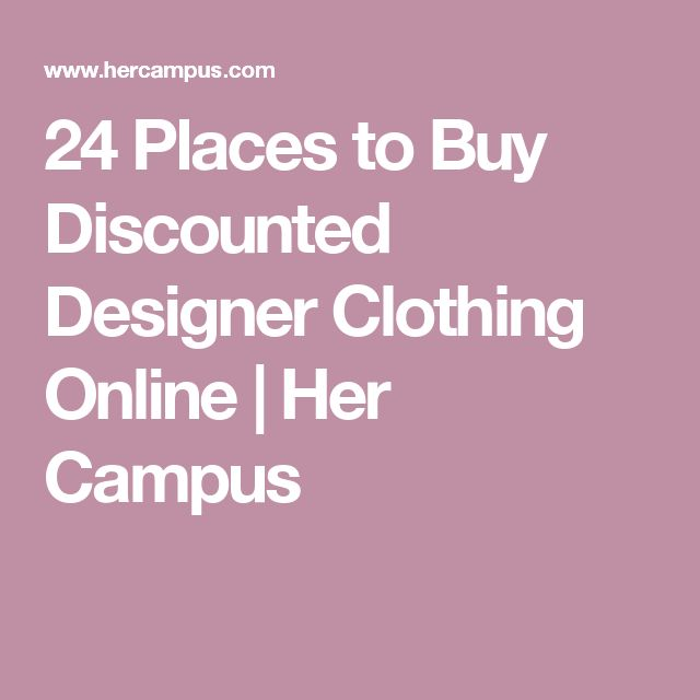 24 Places to Buy Discounted Designer Clothing Online | Her Campus
