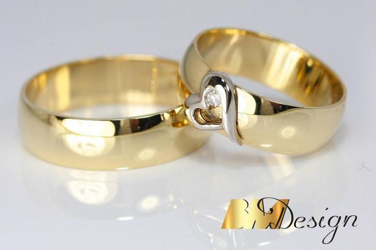 Obrączki ślubne Rzeszów. Obrączki z sercem i diamentem. Obrączki na zamówienie. #klasyczneobrączki #nowoczesneobrączki #inneobrączki #biżuterianazamówienie #custommade #weddingrings #hart #diamond #BM #BMDesign #pracowniazłotnicza #złotnik #jubiler