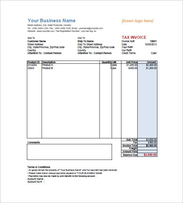 10+ Sales Invoice Templates Word, Excel  PDF Templates www