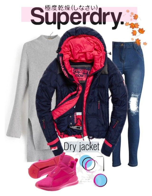 """The Cover Up – Jackets by Superdry: Contest Entry"" by uppereastsidesweet ❤ liked on Polyvore featuring Jill Malek, Superdry, coat and MySuperdry"