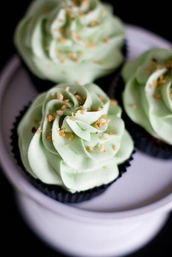 Cupcakes Pistache & Coeur Nutella