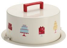 Cake Boss - Metal Cake Carrier - Cream/Red (Ivory/Red)