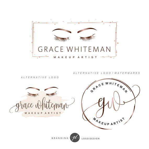 Makeup Artist ^^ | Rose gold Lashes logo Eyelash extension logo Cosmetics logo  https://pinterest.com/makeupartist4ever/
