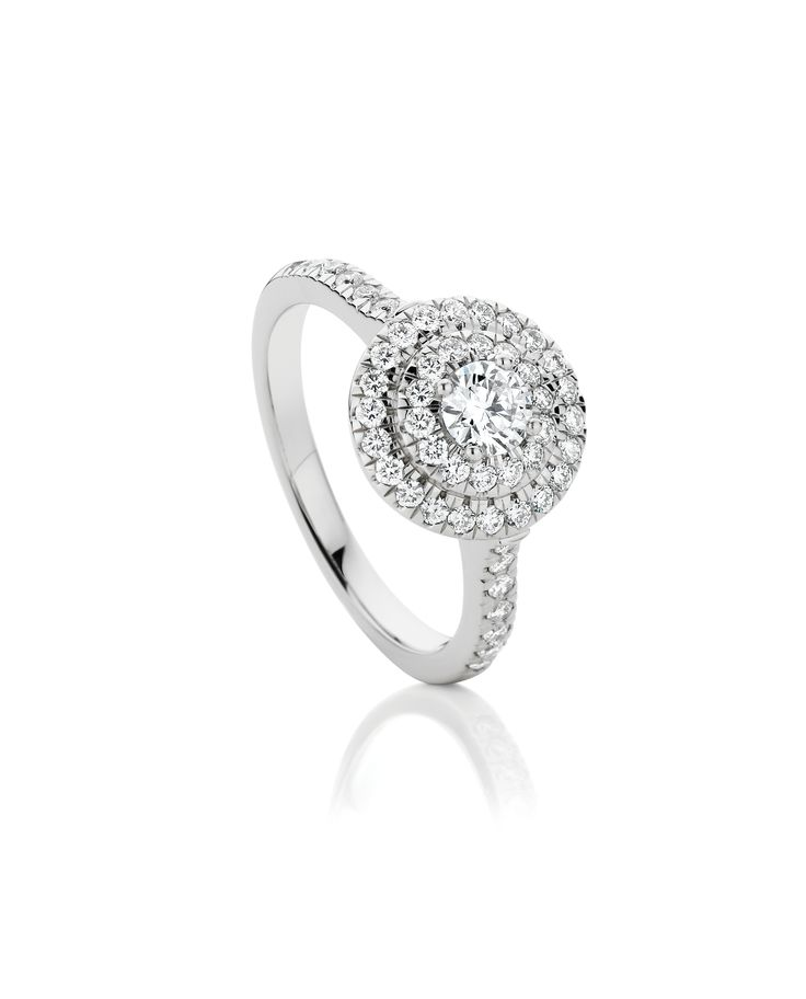 Bling alert with this 0.85ct of Diamonds. Includes 0.30ct CanadianFire Centre Stone, in 18ct White Gold $4799