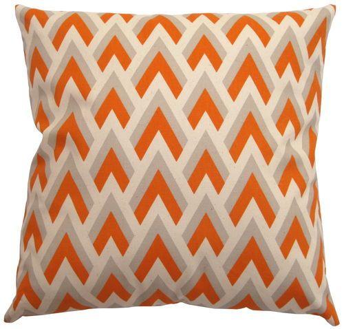 #pillowhunt  16x16 Orange Gray Arrows Accent Decorative Throw Cushion Pillow Cover | eBay $15