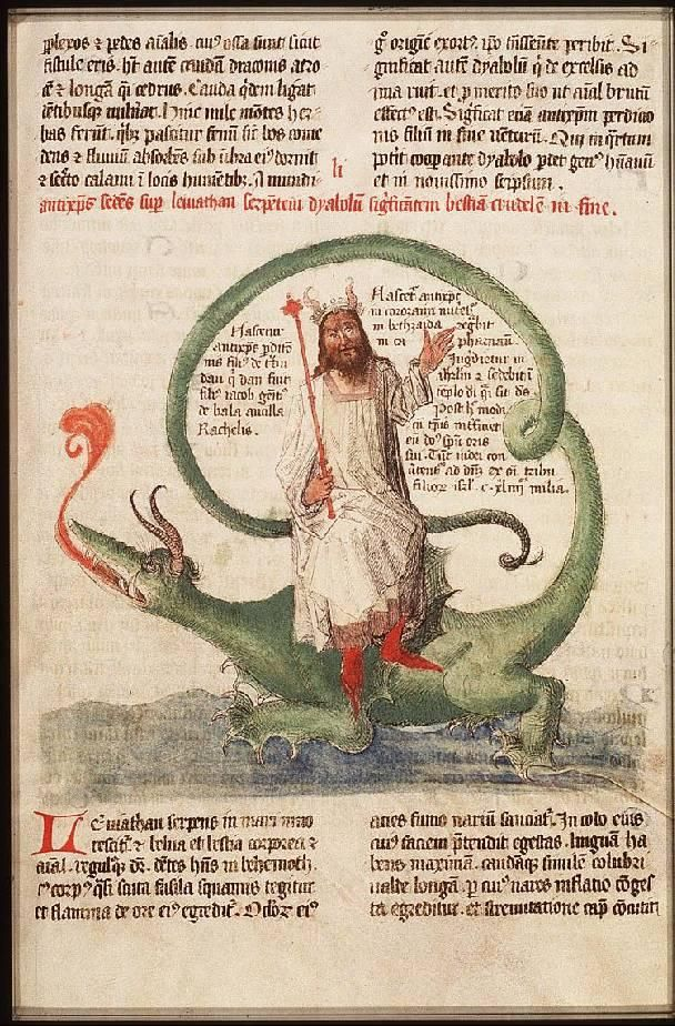 Antichrist sitting on Leviathan Lambert of St. Omer, Liber Floridus Place of origin, date: Lille and Ninove; 1460