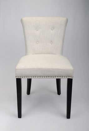 Pair of Ely Linen Dining Chairs - £399.00 - Hicks and Hicks
