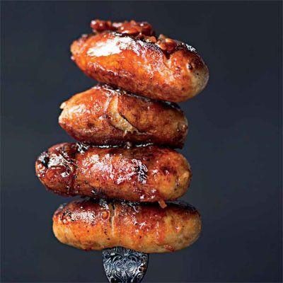 Honey and chipotle glazed pork sausages