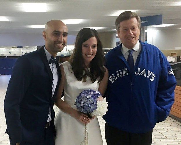 But as soon as they saw the picture of the Syrian boy, they chose to scrap plans for a big wedding, tie the knot at Toronto City Hall, and ask guests to donate to Syrian refugees rather than give gifts.
