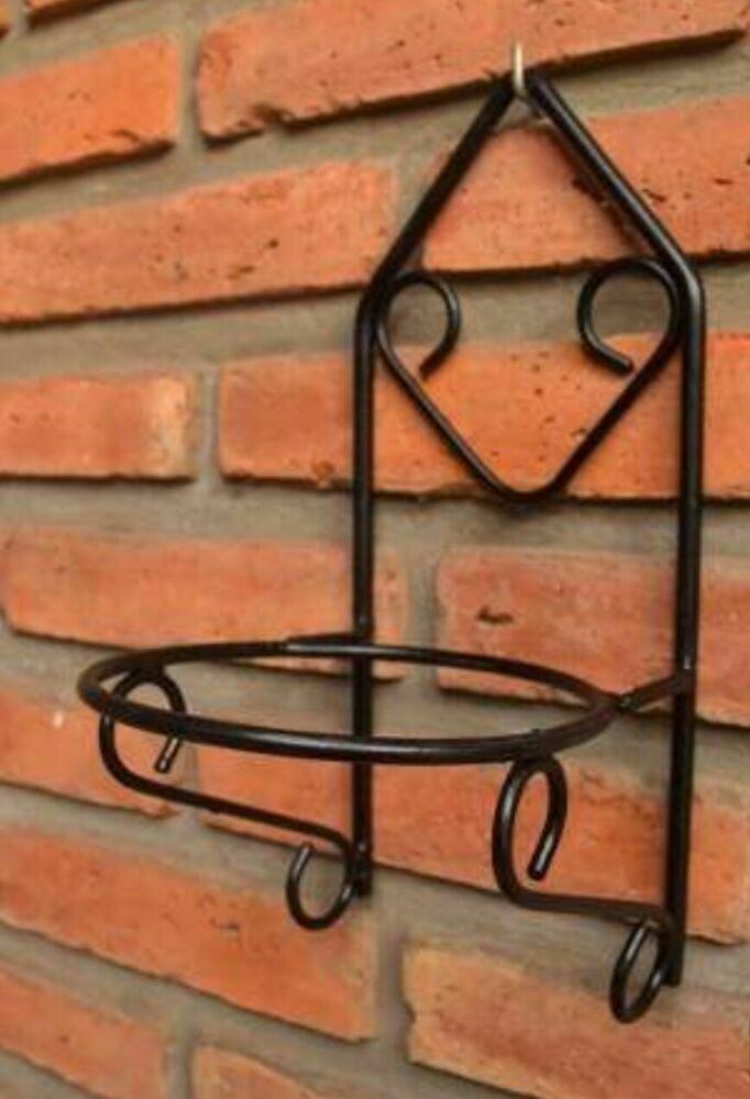 Details About Wrought Iron Black Flower Pot Wall Hanging Handmade Em 2020 Decoracao De Ferro Decoracao De Ferro Forjado Decoracao De Parede Em Ferro