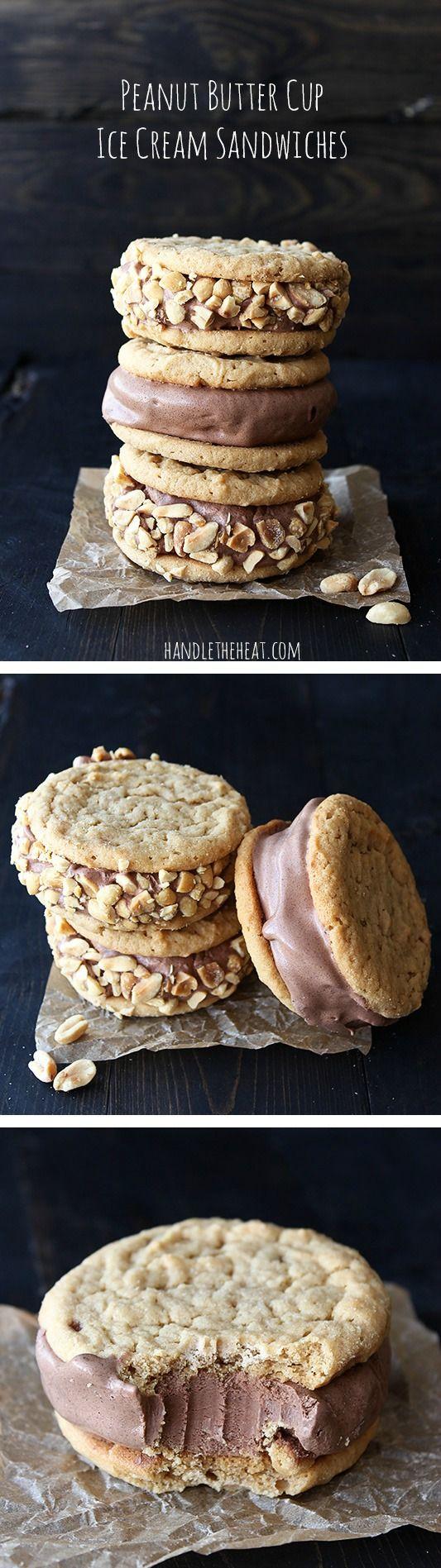 Peanut Butter Cup Ice Cream Sandwiches