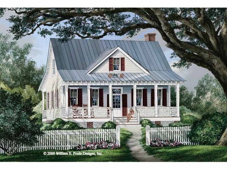 Cottage House Plan with 1738 Square Feet and 3 Bedrooms(s) from Dream Home Source | House Plan Code DHSW68492