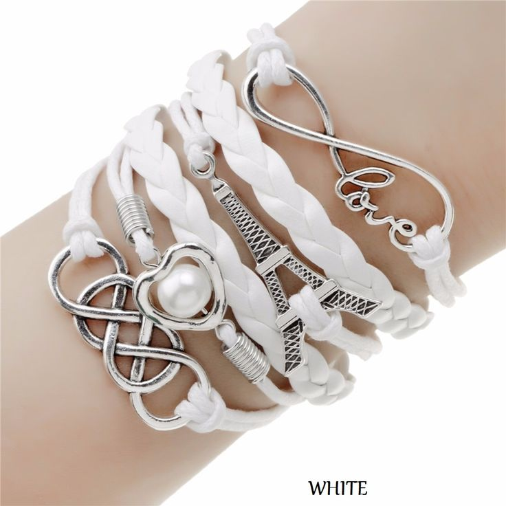 Be special: Leather Multilayer Charm Bracelet 19 Different mod...