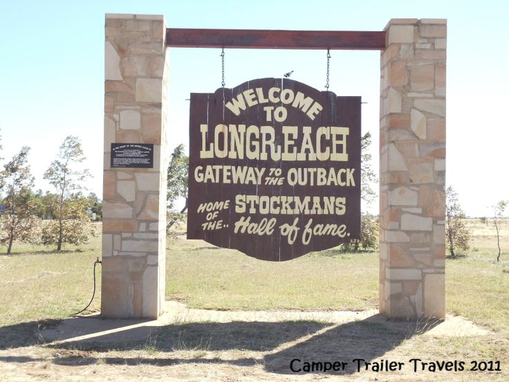 The welcome to Longreach, Qld
