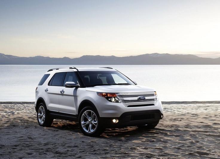 Ford Explorer. White diamond tricoat. My next vehicle