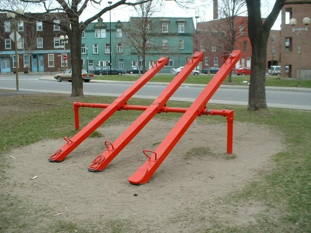 """See Saw, we called them """"teeter-totters""""."""