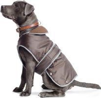 Ancol Muddy Paws Coat and Chest Protector - Large, Chocolate