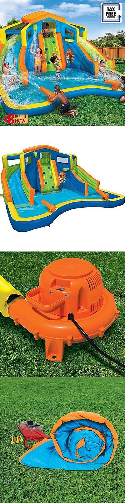 Water Slides 145992: Dual Slide Commercial Inflatable Water Slide Bounce House Water Park Backyard -> BUY IT NOW ONLY: $1322.26 on eBay!