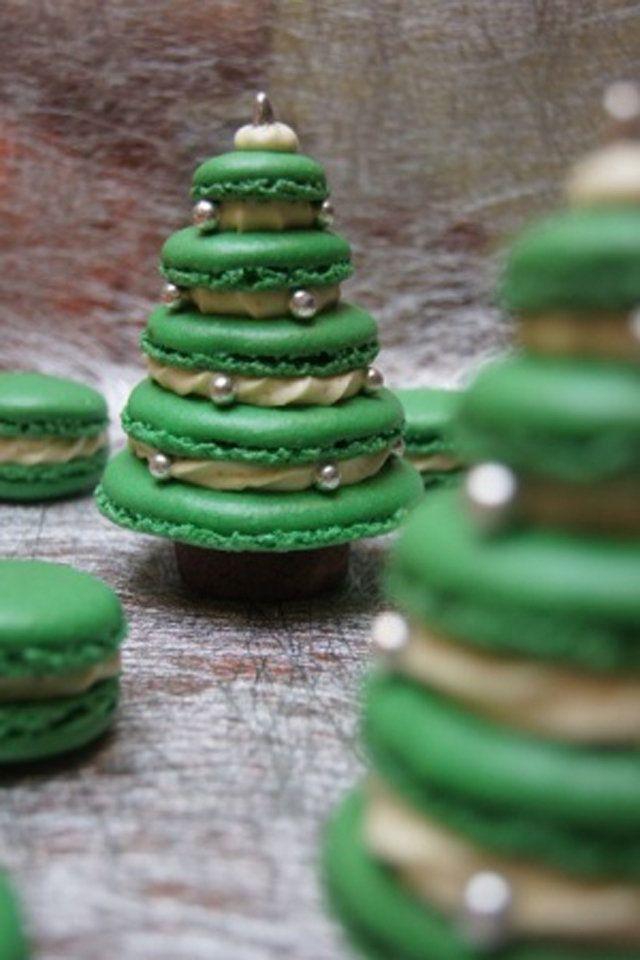 Ideas To Make Christmas Trees Food Christmas Macarons Christmas Cooking Christmas Desserts