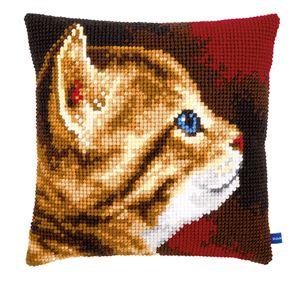 0001. Набор  для вышивания крестиком подушки VERVACO Вервако Ах, какой котенок PN-0154895