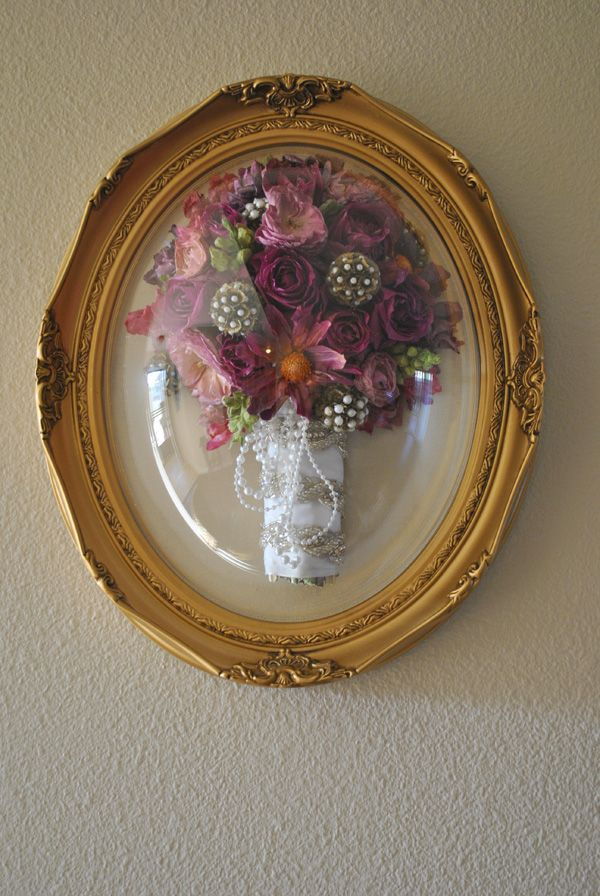 Wedding bouquet preservation frame
