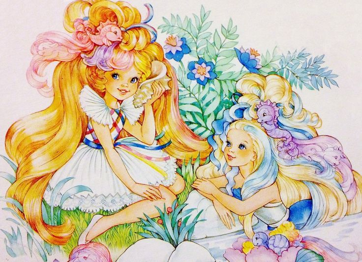 https://flic.kr/p/p9tVny | 1986 Lady Lovely Locks, Maiden Goldenwaves and Sea Magic Pixietails - Enchanted Island | Illustration from Lady Lovely Locks and the Pixietails 150pc Jigsaw Puzzle (1986)