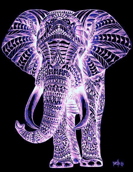 Cool purple elephant depiction!!