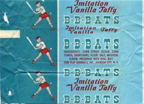 BB Bats In Imitation Vanilla Flavor Penny CandyVintage Candy BuffetCandy