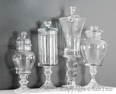 Dollar store candlesticks and glass jars