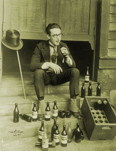 Harold Lloyd flouting Prohibition (this is just for show--he was a teetotaler in real life!)