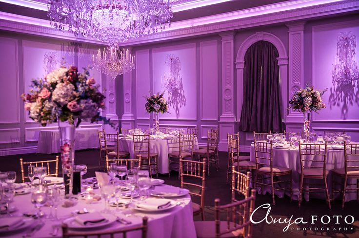 NJ Wedding Photographer, We photograph weddings and portraits, purple center pieces, purple flowers, purple reception