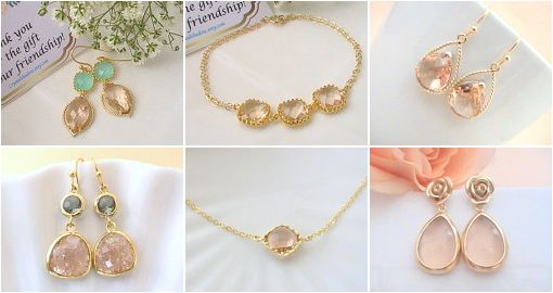 Gold & peach champagne is an amazing classic color combination that never fails. http://etsy.me/1Kk162k #gifts